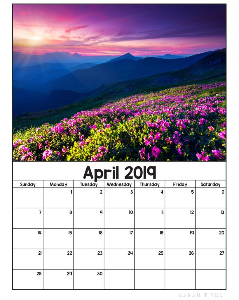If you love nature in all its splendor, these Free Printable 2019 Nature Calendars will be the perfect accompaniment to track your plans, goals, and ideas this year. Use them for #menuplanning, #homeschooling, #blogging, or just to #organize your life. #freeprintablecalendars #2019freeprintablecalendars #naturecalendars