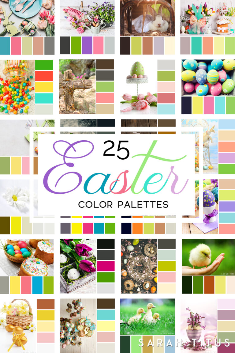 Picking out the right colors for your website, crafts, and designs can be quite difficult sometimes! Trust me, I have been there. Get the best inspiration you can get from these 25 Easter Color Palettes. Let me tell you, all of your projects will look divine!
