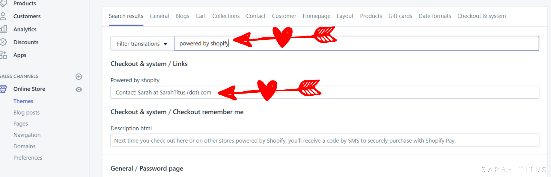 """Does the """"Powered by Shopify"""" byline bug you? It bugged me too. Here's a step by step guide of how to remove it. Trust me, it's super duper simple!"""