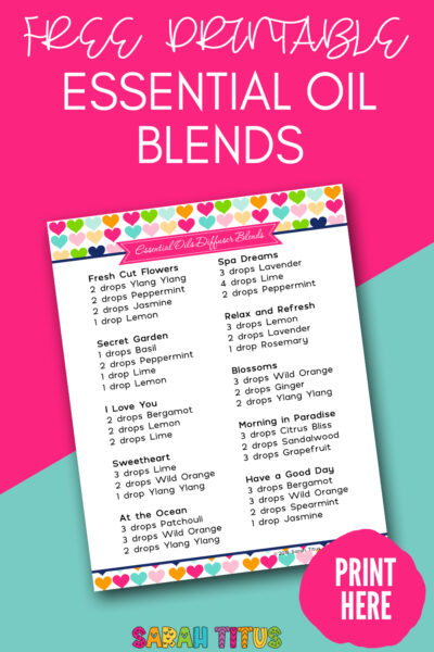 You or your mom will love these essential oil blends! Download this free printable to get 10 free essential oil recipes! #essentialoils #essentialoilblends