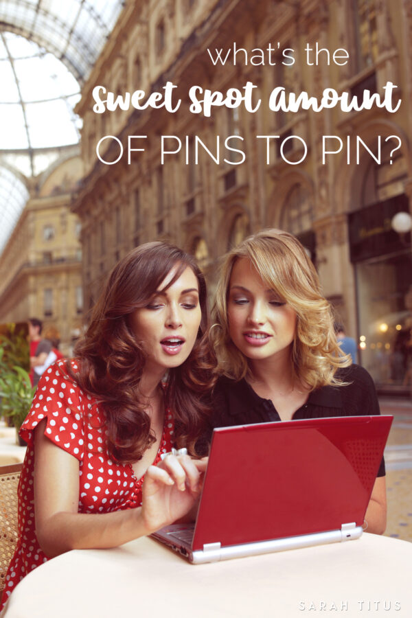 Learning to use Pinterest to help your blog grow is crucial for traffic and pageviews. But if you're not taking your pinning strategy seriously, you're leaving all that on the table. Today we tackle the question, what's the sweet spot amount of pins to pin?