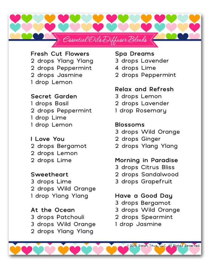 Get this free printable Moms Essential Oil Diffuser Blends, inspired by your amazing kindness and love! Take a day off and relax and breathe in the beautiful scents! #momsdiffuserblends #essentialoils #essentialoilsdiffuserblends #eosformoms