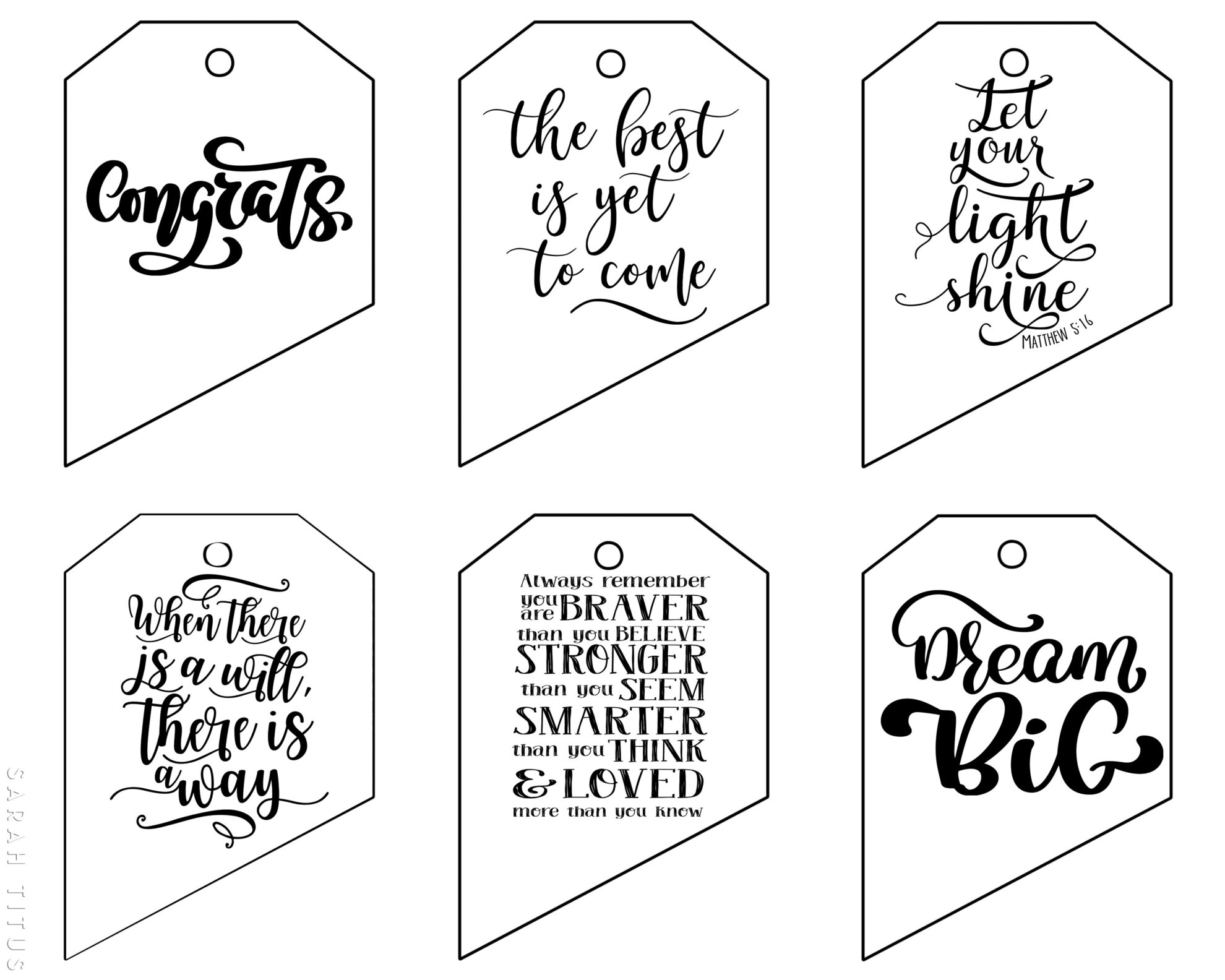 photo regarding Gift Tags Printable named Cost-free Printable Commencement Present Tags - Sarah Titus