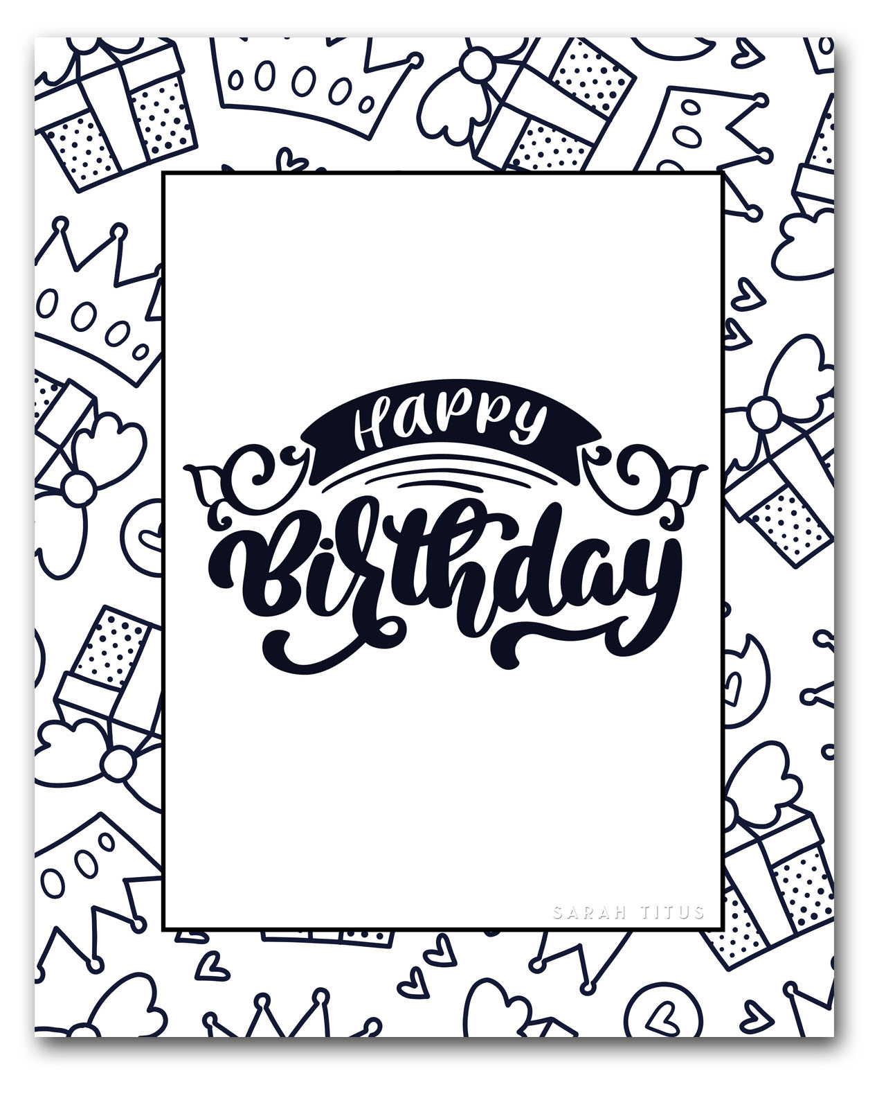 photo regarding Printable Happy Birthday Coloring Pages referred to as 60 Least difficult Cost-free Printable Pleased Birthday Coloring Sheets