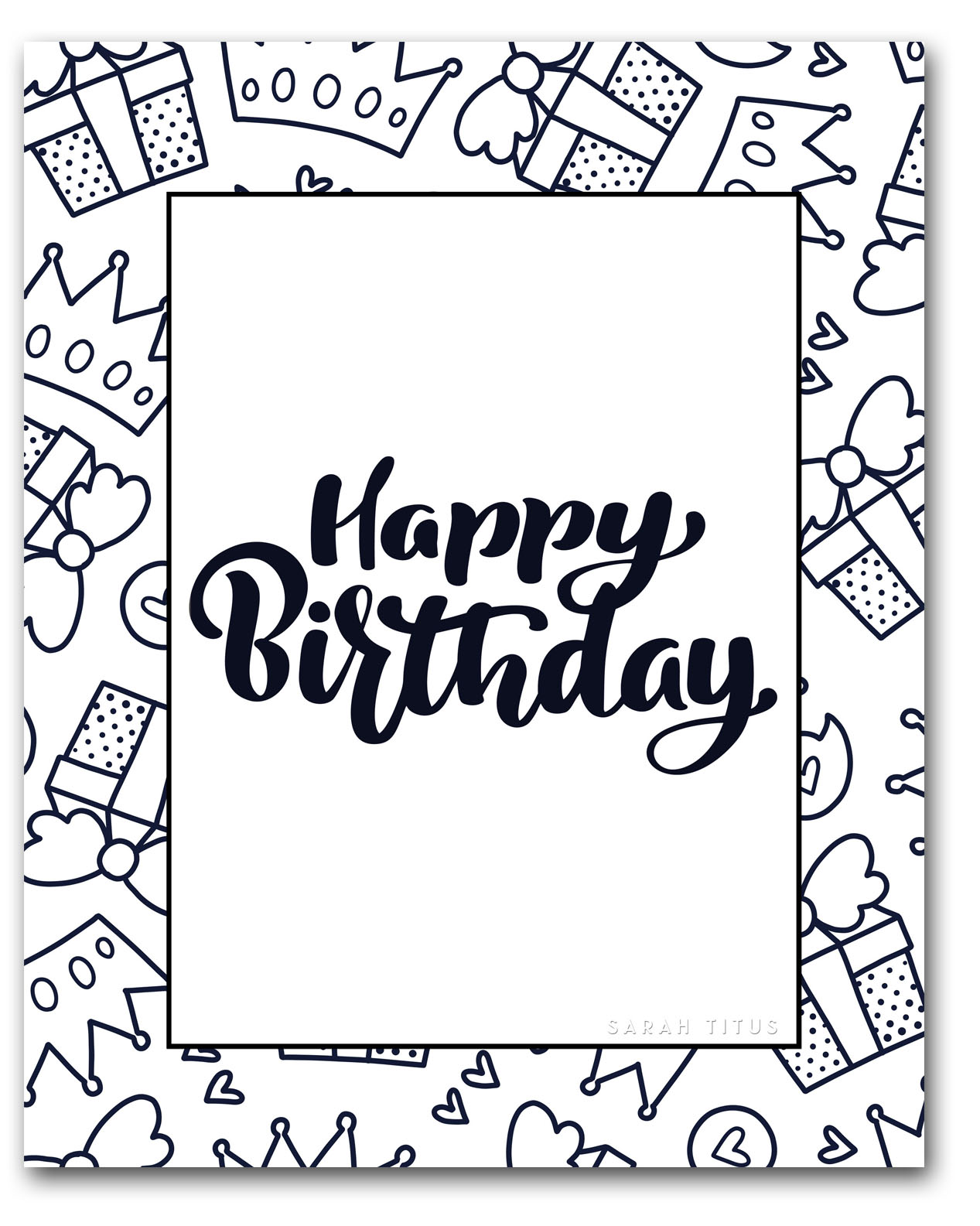 Coloring Pages Online: Happy Birthday and balloons coloring pages | 1585x1267