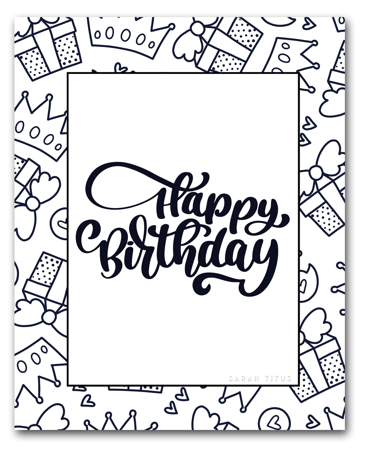 - 60 Best Free Printable Happy Birthday Coloring Sheets, Stickers