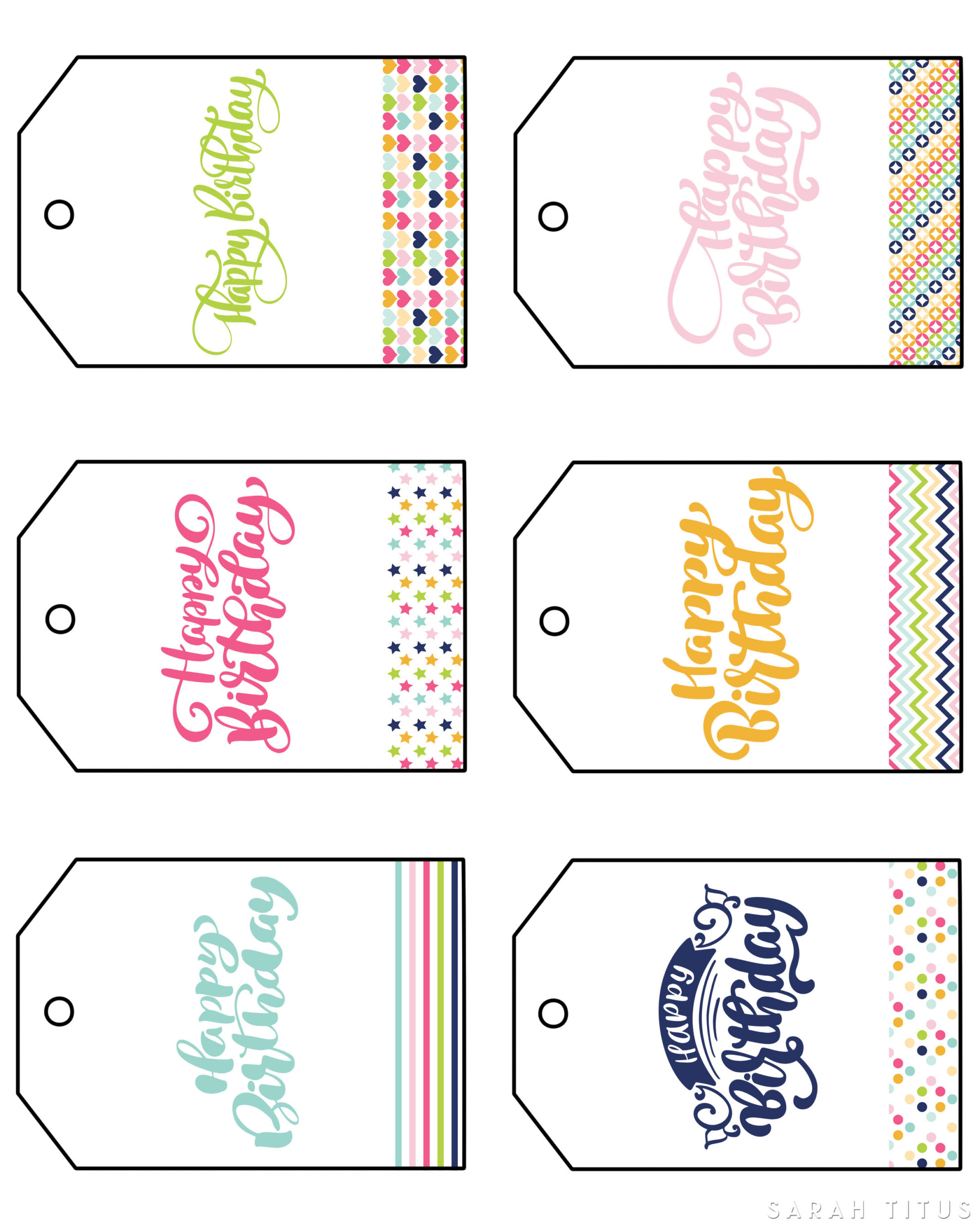 Download Free Printable Happy Birthday Gift Tags