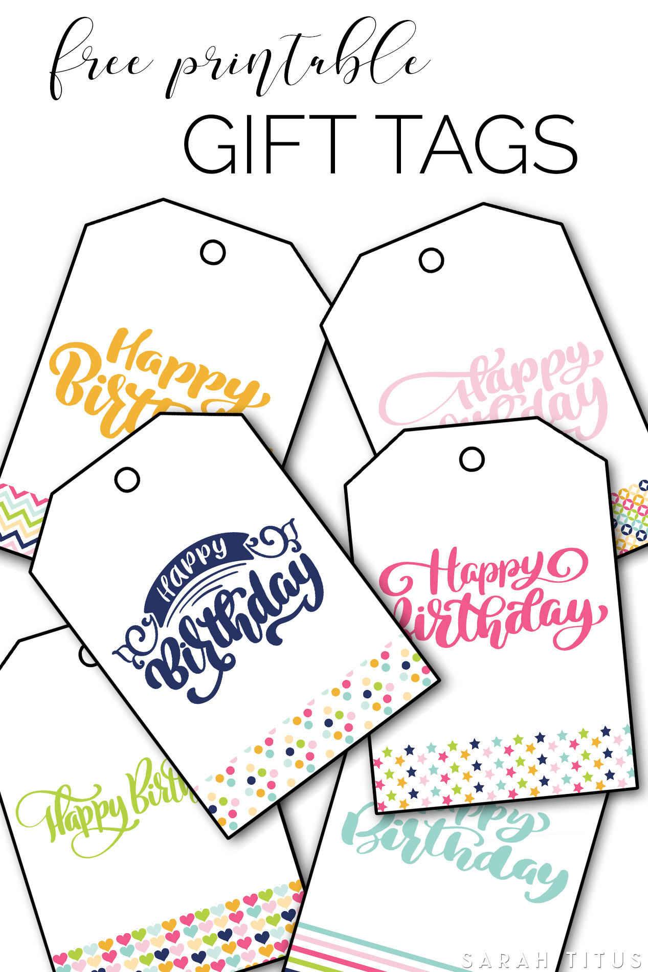 Free Printable Happy Birthday Gift Tags Sarah Titus From Homeless To 8 Figures