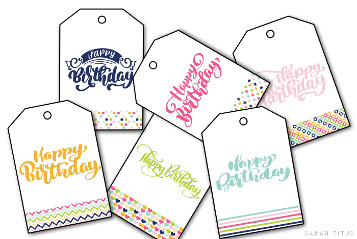 These free printable happy birthday gift tags are different than the basic (read: boring) run-of-the-mill gift tags you'll find in the store. These have class, charm, and whimsy to them. Did I mention they're FREE?! #freeprintable #freeprintables #freegifttags #birthdaygifttags #happybirthday #happybday