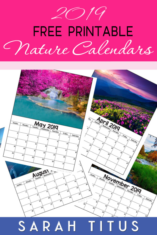 If you love nature in all its splendor, theseFree Printable 2019 Nature Calendarswill be the perfect accompaniment to track your plans, goals, and ideas this year. Use them for #menuplanning, #homeschooling, #blogging, or just to #organize your life. #freeprintablecalendars #2019freeprintablecalendars #naturecalendars