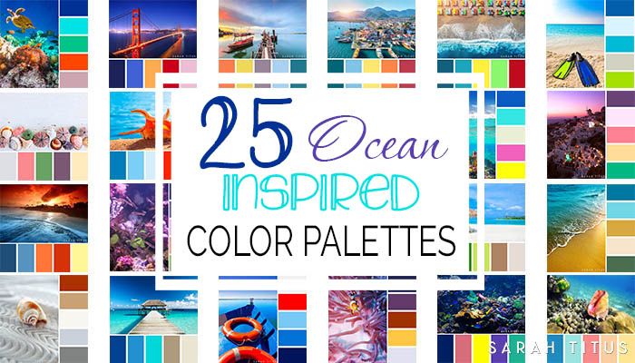 Don't lose your mind trying to figure out what colors go well together. These 25 Ocean Inspired Color Palettes will give all the inspiration you need to get the most beautiful results on all of your projects. #colorpalette #colorpalettes #ocean #oceancolorpalette