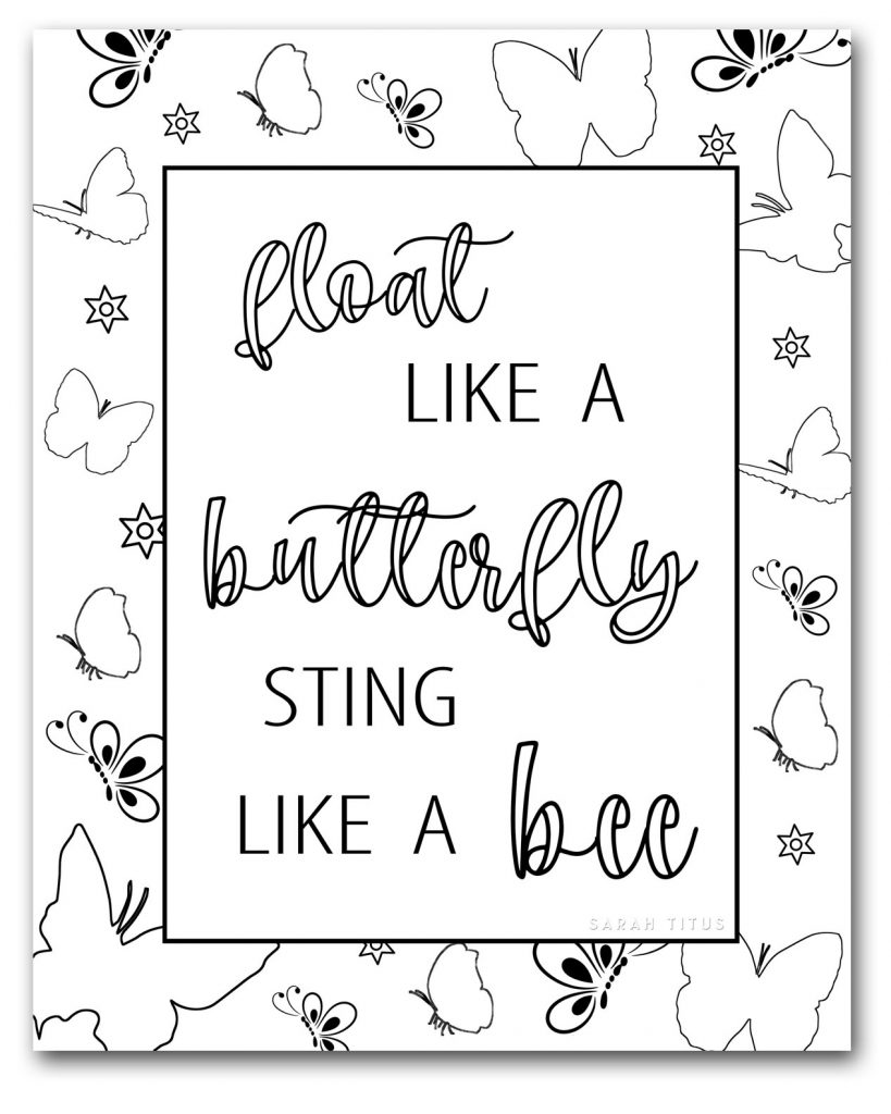 Let coloring relax you with Free Beautiful Butterfly Coloring Pages That Are Different! #butterflycoloringpages #coloringpagesforadults #freeprintable