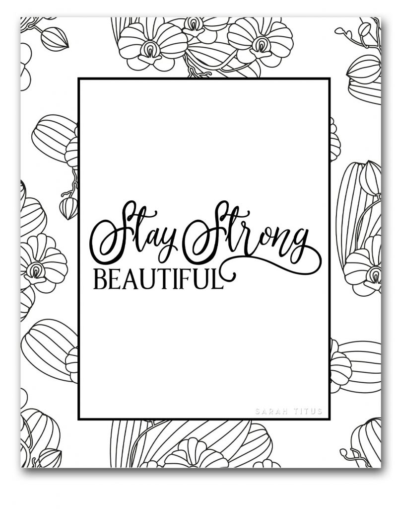 For a double dose of hope and relaxation print out these free printables to color online to relax! #coloronline #coloringpageforadults #freeprintable