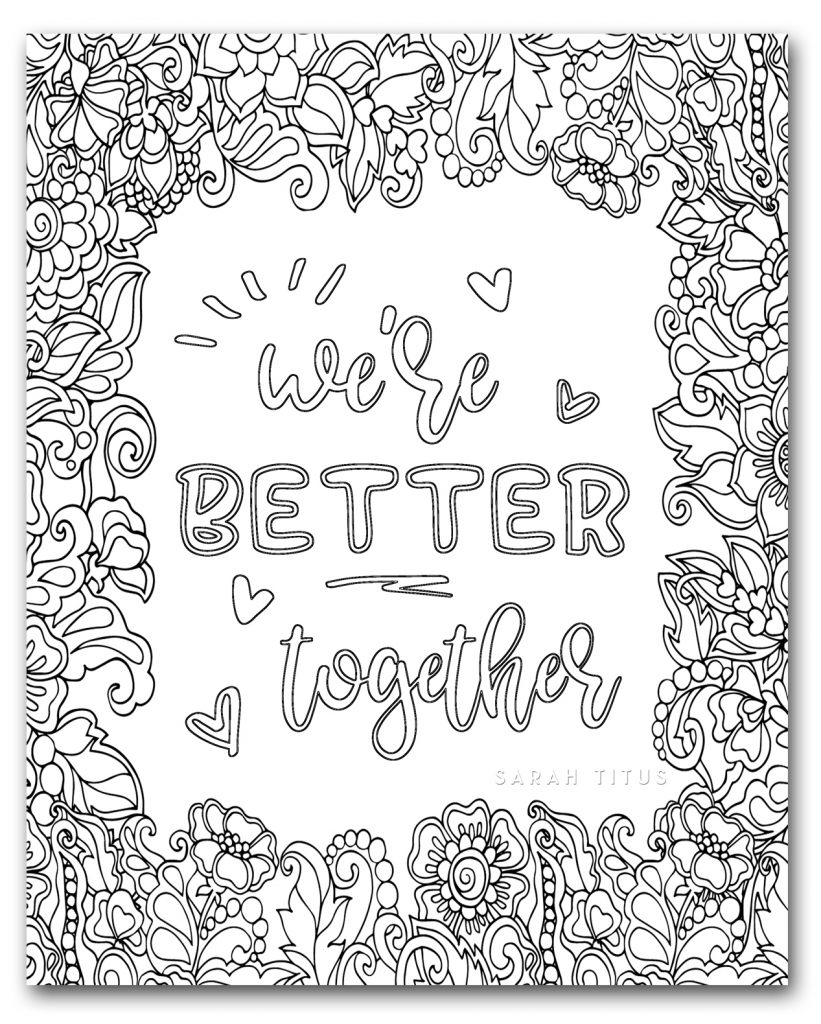 Coloring Book for Adults Free Printables {Clean} - Sarah ...