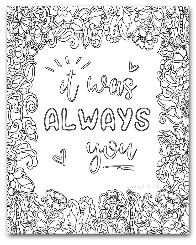 Romantic Quotes of Love | Love coloring pages, Quote coloring ... | 1024x821
