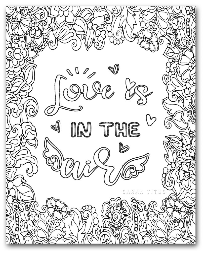 Love is in the air with these printable Unique Love Coloring Pages! #uniquelovecoloringpages #lovecoloringpages #printablecoloringpages #freeprintables