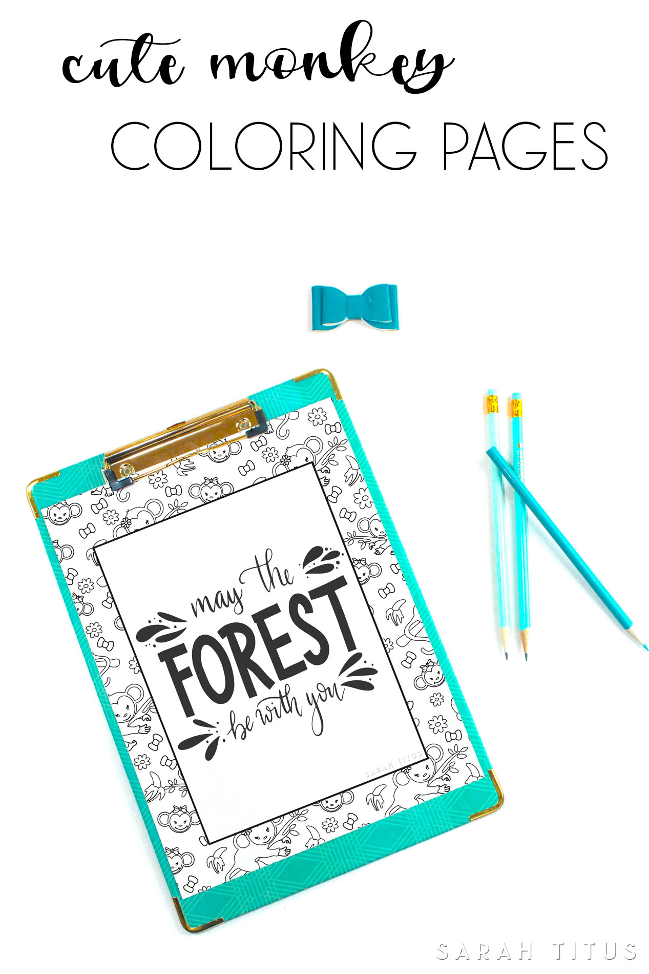 Cute Monkey Coloring Pages Sarah Titus From Homeless To 8 Figures