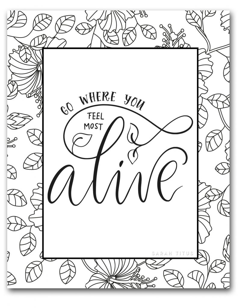 Free Online Coloring Sheets To Encourage You - Sarah Titus