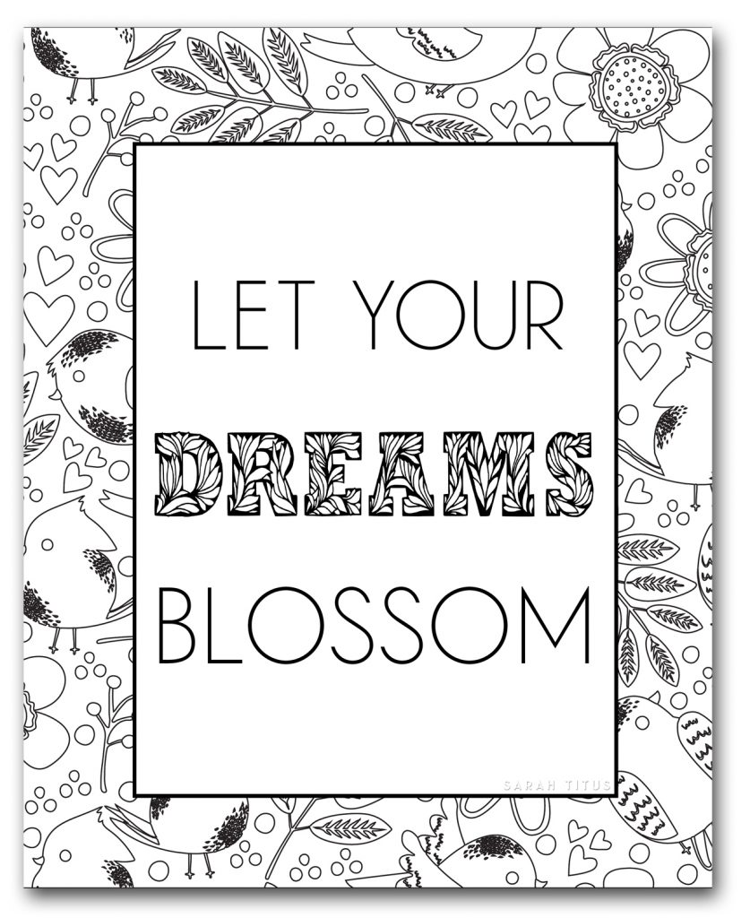 Cheer yourself up and celebrate Spring with some vibrant colors and these Spring Coloring Sheets! #coloringpages #printables #springcoloringsheets