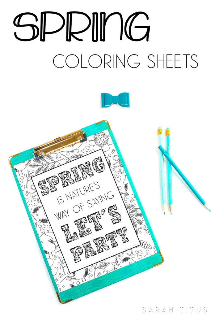 Cheer yourself up with some vibrant colors and these Spring Coloring Sheets! #coloringpages #adultscoloringpages #printables #springcoloringpages #spring