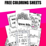 These extremely unique and fun coloring sheets will not only inspire and encourage you, but melt your stress away and put a smile on your face! #coloringbookforadults #coloringbook #coloringbookforadultsfree #freecoloringbook #freecoloringseries
