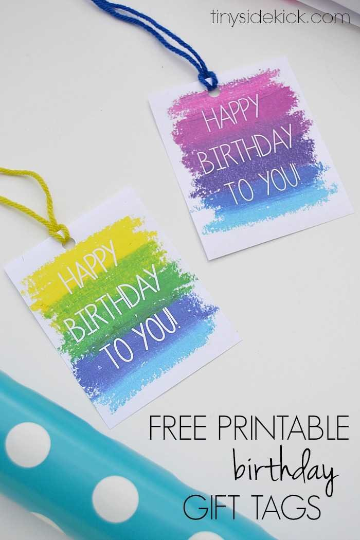 Okay, hold the phone, I might like these birthday gift tags better! See, I am just totally obsessed with printables. I just love them all!