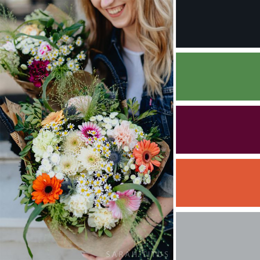 Beautiful Flower arrangement Color Palette