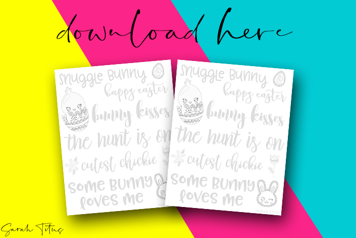 Free Easter Hand Lettering Practice Sheet