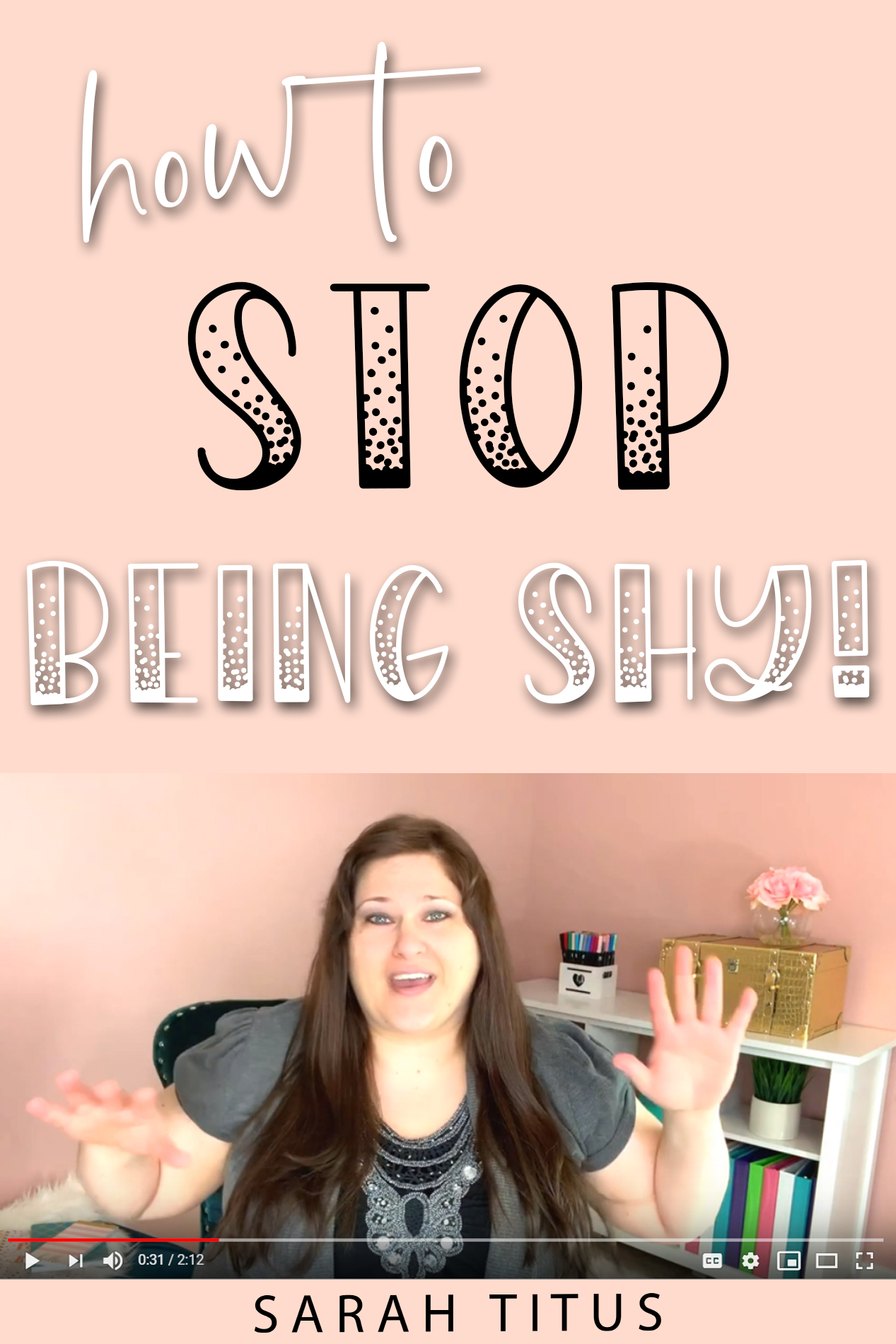 Online I'm just fine. It's no problem. The words come easily. I can talk just fine. But in person, it's a whole different story! Here's the #1 trick I use to help me stop being shy!