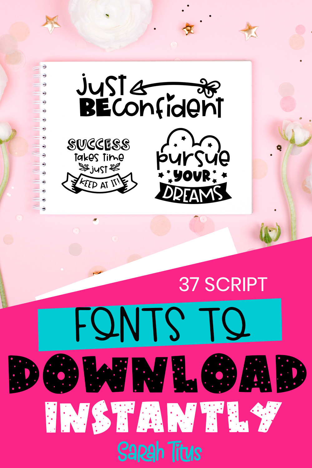 Be different and give your own personal touch to all your designs, photos, and posts with these absolutely beautiful 37 Script Fonts to Download Instantly! #fonts #bestfonts #scriptfonts #bloggingfonts #calligraphyfonts