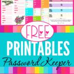 Get these 10 different professionally designed free printable PDF password keeper logs that you can download instantly! Perfect your organizational system today! #website #passwordlogs #awesome #diy