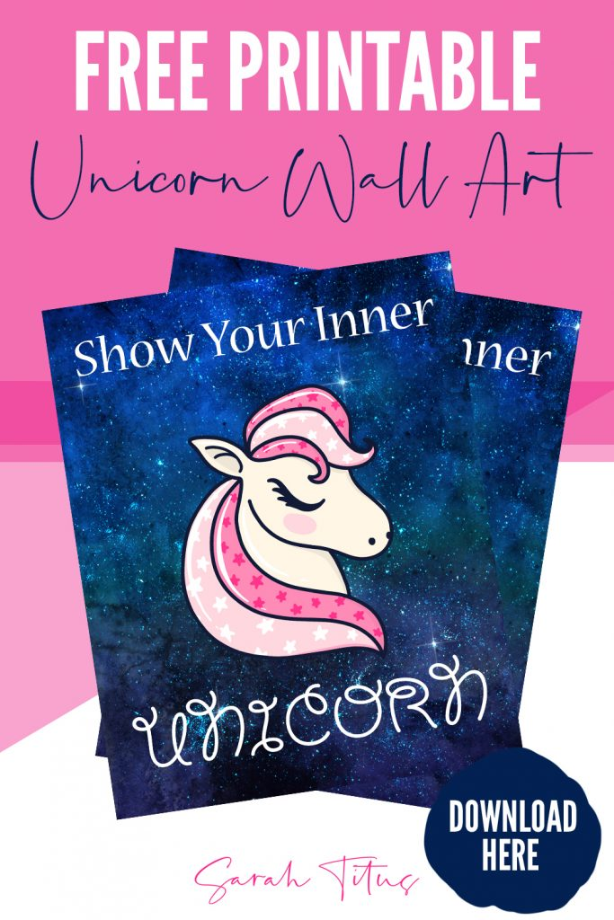 My young daughter's first attempt at creating her very own awesome printable proves that we ALL have a little special magic in all of us! Get this free Show Your Inner Unicorn Wall Art Printable by clicking here! Hang it in your bedrooms or girl rooms for a one of a kind work of art!