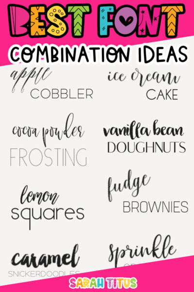 No one ever wants to have the same font! Be unique, be bold, be personable with these super trendy best font combination ideas.