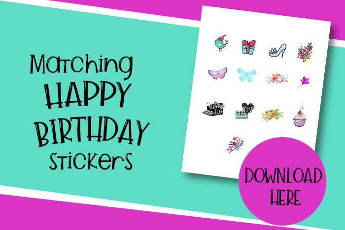 Free Printable Matching Stickers