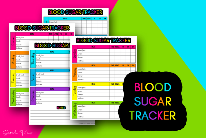 Checking your blood sugar levels when you have diabetes is vital. At least make it a LITTLE fun by having colorful and beautiful tracker spreadsheets to use!