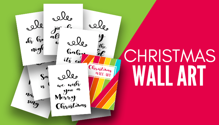 Free printable Christmas Wall Arts! Add a touch of Chrismas decor to your walls wiht these free printable Christmas Wall Decorations! #wallart #christmaswallart #christmasdeco