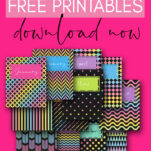 Whether your kids are in junior high, high school, or college, they will absolutely adore these monthly free printable binder covers templates!