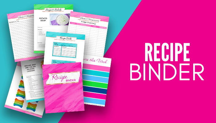 Recipe Binder {160+ pages}