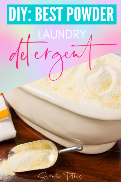 Make your own cost effective powder laundry detergent with essential oils and a few ingredients so you can save money while having fresh smelling, super clean clothes! All natural products, non-toxic.