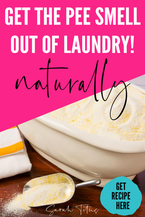 I don't know if you have a boy like I do, but, until they are fully trained through the night (which can last up till they're 12!!) you deal with an embarrassing fact, pee smell. This is the BEST laundry detergent recipe to conquer the smell!