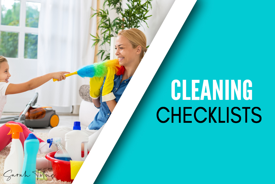 These free cleaning checklist will help you keep your house clean and make it so much easier to complete all your chores! Download these free cleaning checklists here! #cleaningchecklist #cleaningprintables #printables #cleaning
