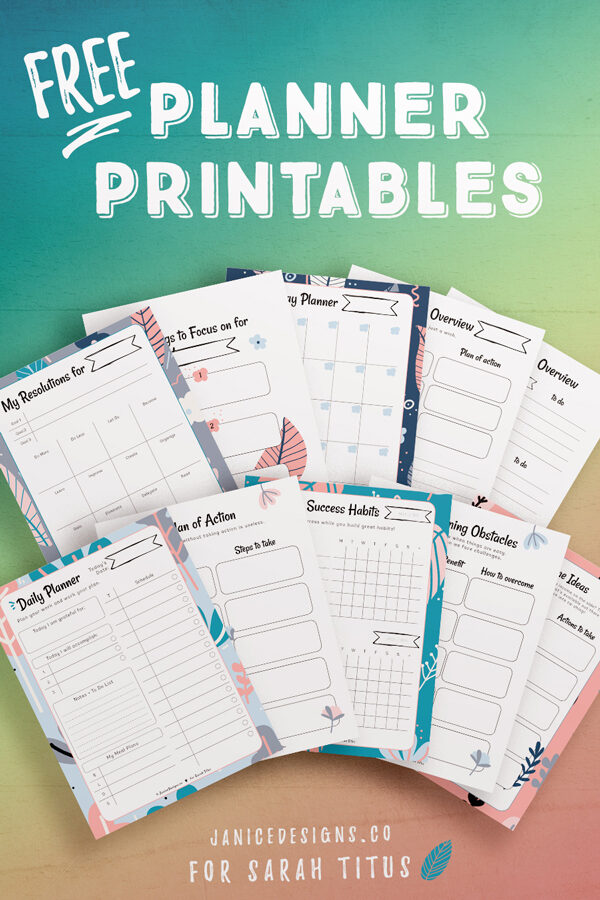 These top New Year's free printable worksheets are perfect for kids and adults. They're undated, so you can use them any year! Best of all, they're a free instant download! Just click and print!!! #organizing #freeprintables