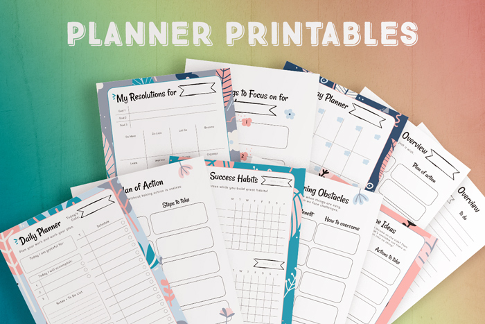 Printable Planners - Janice Designs