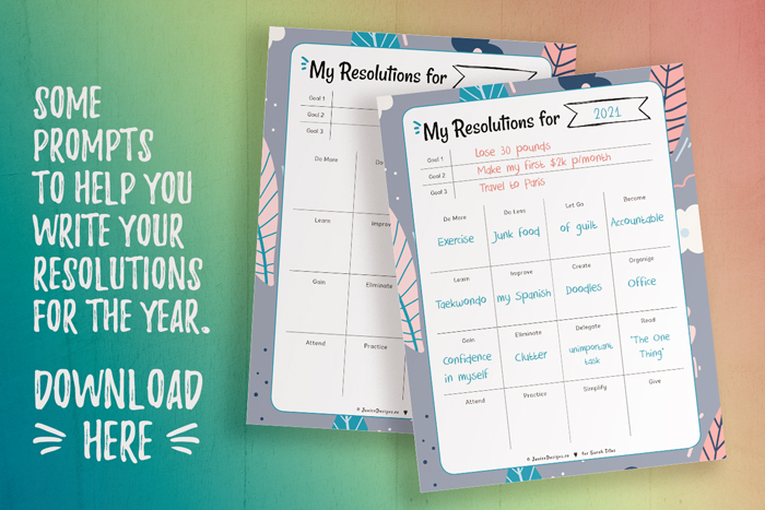 New Year's Resolutions Planner