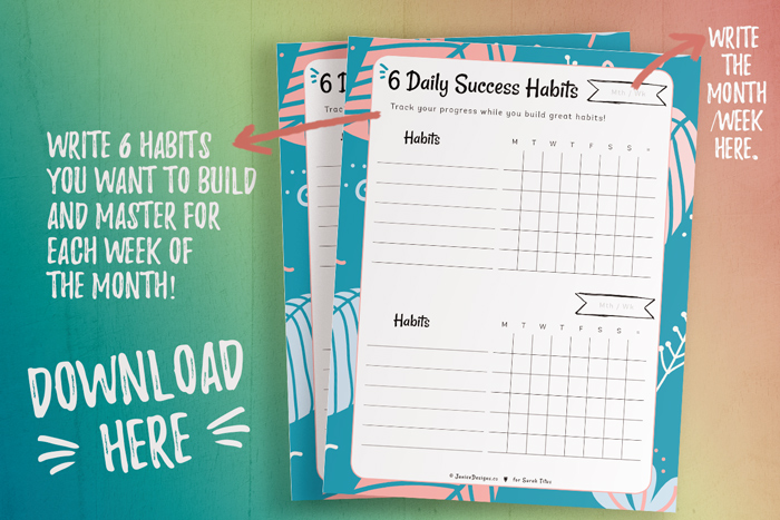 6 Daily Success Habits Planner