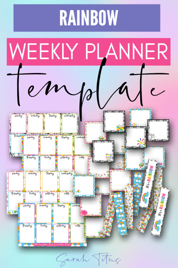 Oh my gosh! This super cute free printable weekly planner template is perfect for kids, students, your to do list, everything! It's a horizontal PDF that's a fast download! Grab it today!!!