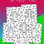 Want to bring some holiday cheer into your home? Me too! These Christmas Monogram Coloring Wall Art prints are perfect for kids or adults. Hang them on your walls, frame them for your mantle, put them in your kids binders. Choose whatever palette / scheme you want and have FUN!