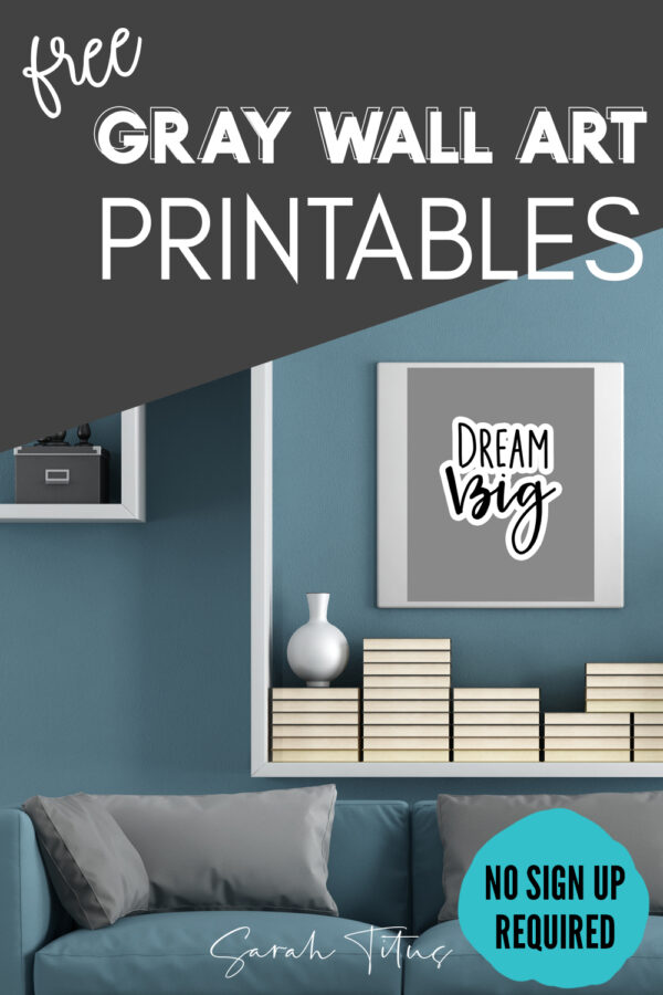 If you're looking for free gray, black and white wall art printables, you're in the right place! This simple, modern set is perfect for the minimalist. Put them in your bedroom, living room, anywhere!