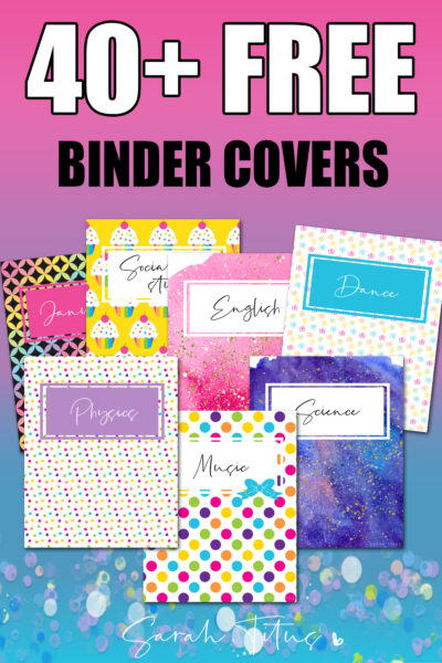 Students LOVE these free printable, topical covers and dividers. They are super cute and colorful and add pizazz to any binder from 1st grade to college! Perfect templates to motivate your star pupil! #school #topics #math #biology