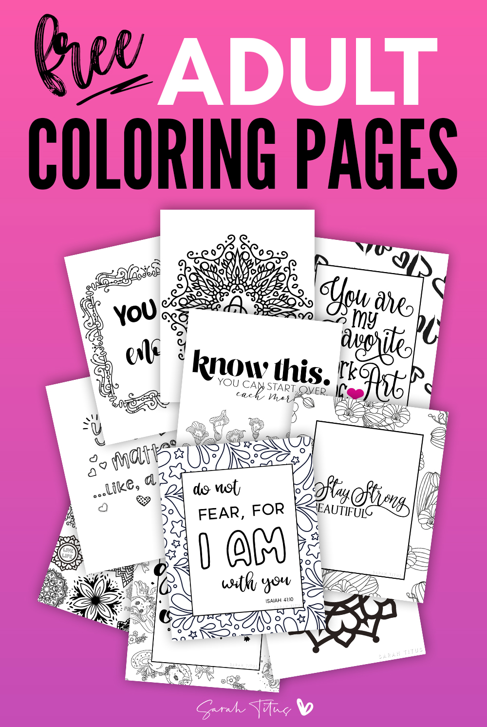 Grab these 30 free coloring pages for adults! Set back and relax and color one of these fun coloring sheets! #coloringpages #coloringsheets #coloring #adultcoloring